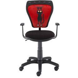 Nowy styl Obrotowe krzesło dziecięce z kotem na oparciu ministyle