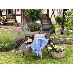 Leżak ogrodowy, plażowy Zero Gravity L66R1 + stolik + daszek (5900000013732)