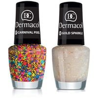 Dermacol Nail Polish With Effect 5ml W Lakier do paznokci 16 Queen Stardust