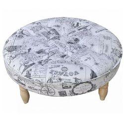 Okrągła pufa pikowana do siedzenia - greko 2x marki Elior
