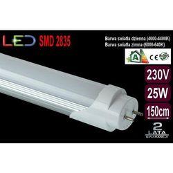 Świetlówka Tuba Rura Oprawa LED 25W T8 150cm zimna - oferta [05edec0821a2964d]