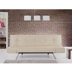 Rozkładana sofa beżowa ruchome podłokietniki bristol marki Beliani