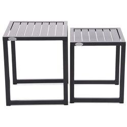 Home & garden Zestaw stolików aluminiowych cuba black (5902425326961)