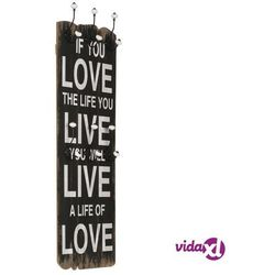 Vidaxl wieszak ścienny na odzież wierzchnią, 120x40 cm, love live (8718475593256)