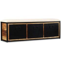 Vidaxl ławka do przechowywania, 3 szuflady, drewno mango, 120x30x40 cm