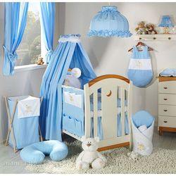Mamo-tato pościel 14-el miś na chmurce w błękicie do łóżeczka 70x140cm - tkanina