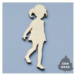 Drewniana dekoracja dziewczynka 9x3,5 cm - DZK