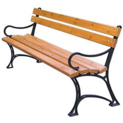 Rojaplast ławka parkowa z podłokietnikami