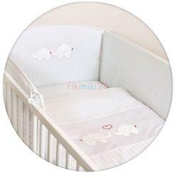 Ceba baby Ceba pościel bawełniana c-3 haft słoniki białe satyna