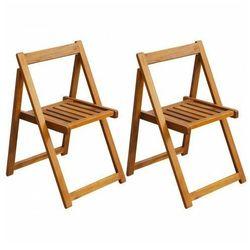 Akacjowe krzesła ogrodowe Hobart 2 szt, vidaxl_42660