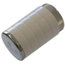 Grzejnik Instal-Projekt 603000012 POKRĘTŁO BIAŁE CHROM Z GWINTEM PRZYŁĄCZENIOWYM M30X1,5