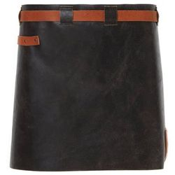Skórzany fartuch Witloft | krótki fartuch czarny / koniak | WL-SAW 01 | damski | 40 (D) x62 (S) cm, kup u je