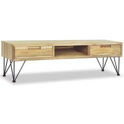 Vidaxl szafka pod telewizor, 120 x 35 cm, lite drewno tekowe
