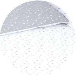 dwustronna pościel 2-el mini gwiazdki szare na bieli / mini gwiazdki białe na szarym do łóżeczka 60x120cm marki Mamo-tato