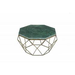 INVICTA stolik kawowy DIAMOND 70 cm - zielony marmur, marmur, żelazo