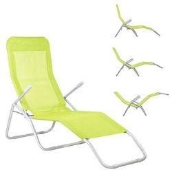Leżak ogrodowy leżanka limonkowa - limonkowy \ gc0006 marki Springos