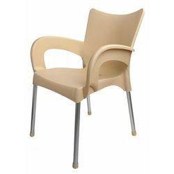 Mega plast krzesło dolce mp463, kremowe (8606006428910)