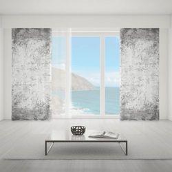 Zasłona okienna na wymiar - GREY & WHITE ABSTRACT