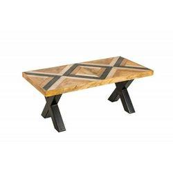Sofa.pl Invicta stolik kawowy long island 110 cm - mango, płyta mdf, metal