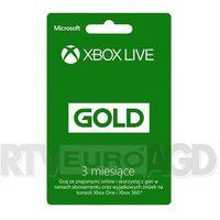 Subskrypcja Xbox Live Gold (3 m-ce karta zdrapka) - produkt w magazynie - szybka wysyłka!
