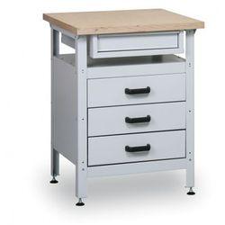 Stół warsztatowy hobby ii, 600x600x750 mm, 4 szuflady marki B2b partner