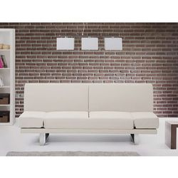Sofa z funkcją spania beżowa - kanapa rozkładana - wersalka - york od producenta Beliani