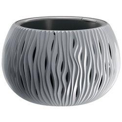 Doniczka Sandy Bowl z wkładem 29 cm szara (5905197223483)