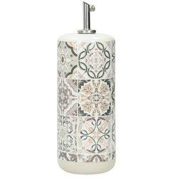 butelka na oliwę casa decor grey 500ml, 7,7 × 7,7 × 22 cm marki Dekoria