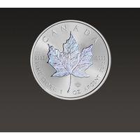 Kanadyjski Liść Klonowy 1 uncja srebra z hologramem