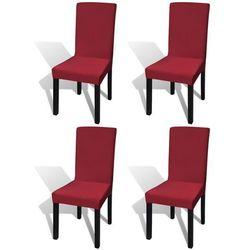 elastyczne pokrowce na krzesła w prostym stylu, bordo 4 szt. marki Vidaxl