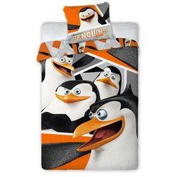 komplet pościeli pingwiny z madagaskaru, poszwa 160x200cm, 1 poszewka 70x80cm marki Dekoria