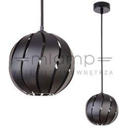 Wisząca lampa ażurowa globus skos 31001 metalowa oprawa z wycięciami zwis kula ball czarna marki Sigma