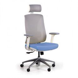 Krzesło biurowe z siatkowanym oparciem ENVY, niebieskie