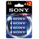Sony Bateria lr6 aa (4+2szt blister) stamina plus