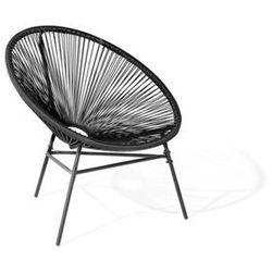 Krzesło ogrodowe czarne ACAPULCO