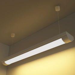 vidaXL Lampa sufitowa, świetlówka LED 14W ciepły biały+zestaw do zawieszania (świetlówka)