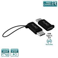Puro  adapter micro usb to usb-c - adapter micro usb na usb-c 2.0 do ładowania & synchronizacji danych, 2a, 4