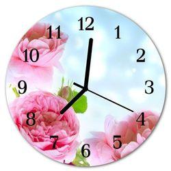 Zegar ścienny okrągły Piwonie