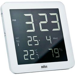 Zegar ścienny Braun 66028 Sterowany radiowo, (SxWxG) 210 x 210 x 23 mm, kolor biały