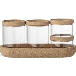 Bloomingville Pojemniki kuchenne szklane na podstawce (5711173227648)
