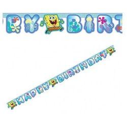 Amscan Baner happy birthday spongebob kanciastoporty - 180 cm - 1 szt.