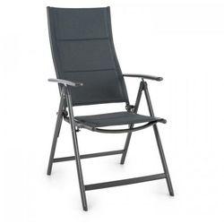 stylo noble grey krzesło ogrodowe składane aluminiowe szare marki Blumfeldt