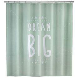 Zasłona prysznicowa Dream Big, PEVA, 180x200 cm, WENKO, B07117K1NC
