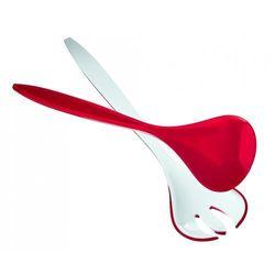 Komplet łyżek do sałatek vintage, czerwone - czerwony marki Guzzini