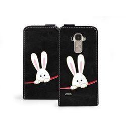 Flip fantastic - lg g4 stylus - etui na telefon flip fantastic - biały królik wyprodukowany przez Etuo.pl