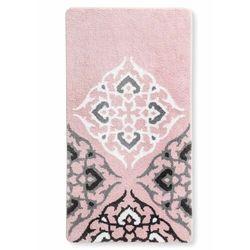 Dywaniki łazienkowe z motywem ornamentów bonprix różowo-szary
