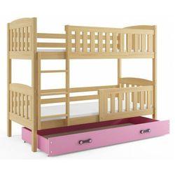 Drewniane łóżko dla dzieci z drabinką 80x190- Celinda 2X, 20219001205800100003519151