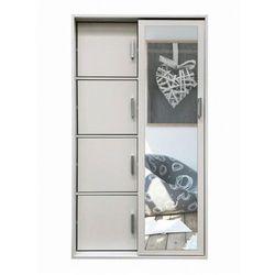 Garderoba z lustrem i szafką na buty horik - biała marki Producent: elior