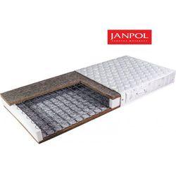 Janpol kronos - materac bonellowy, sprężynowy, rozmiar - 200x200, pokrowiec - jersey standard wyprzedaż, wy