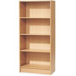 Regał biurowy adeptus, 4 półki, 1725x805x415 mm, laminat, buk marki Aj produkty